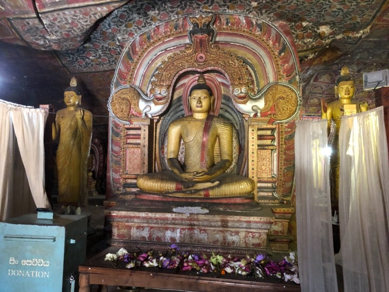 Meditating Buddha at Dambulla Cave Temple