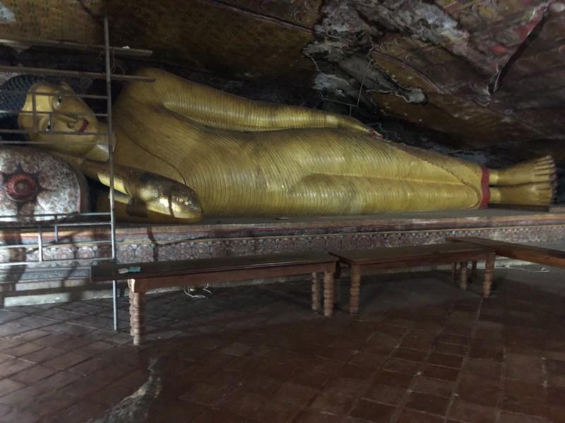 Reclining Buddha at Dambulla Caves