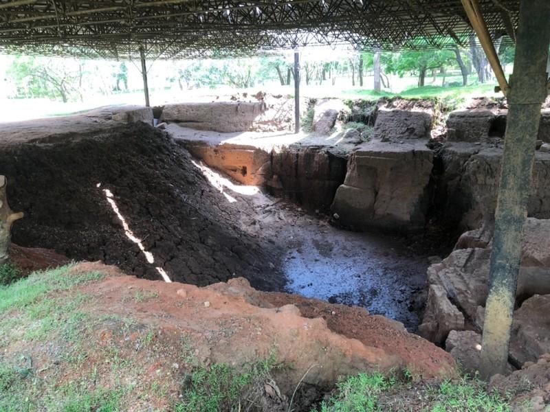 Archaeological dig at Anuradhapura Citadel