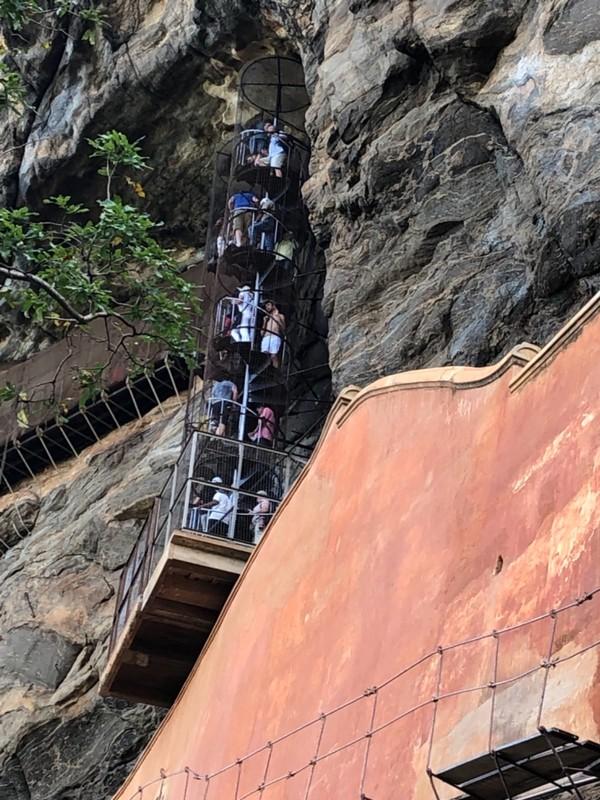 Sigiriya spiral staircase
