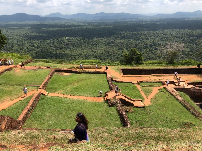 Ruins at top of Sigiriya