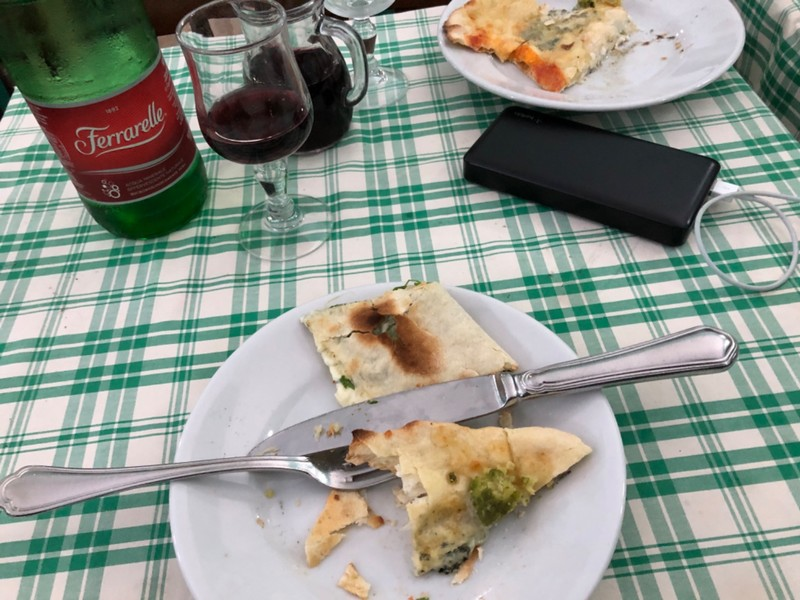 Spinach and ricotta pastry at Hostaria Dino e Toni