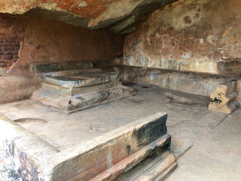 Queen's throne at Sigiriya