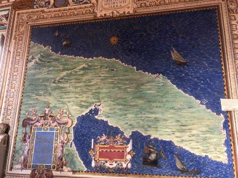 Map of southern Italy in the Gallery of Maps at the Vatican Museums
