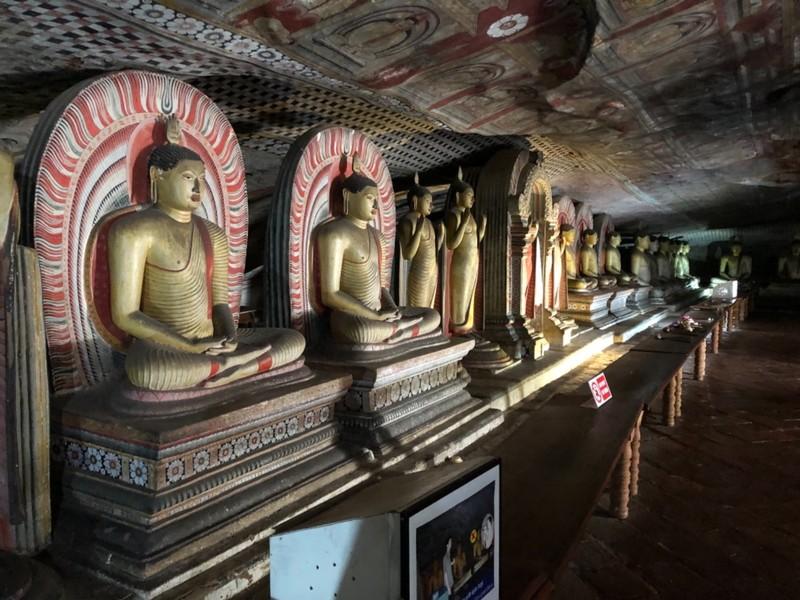 Boddhisatvas in Dambulla Cave Temple
