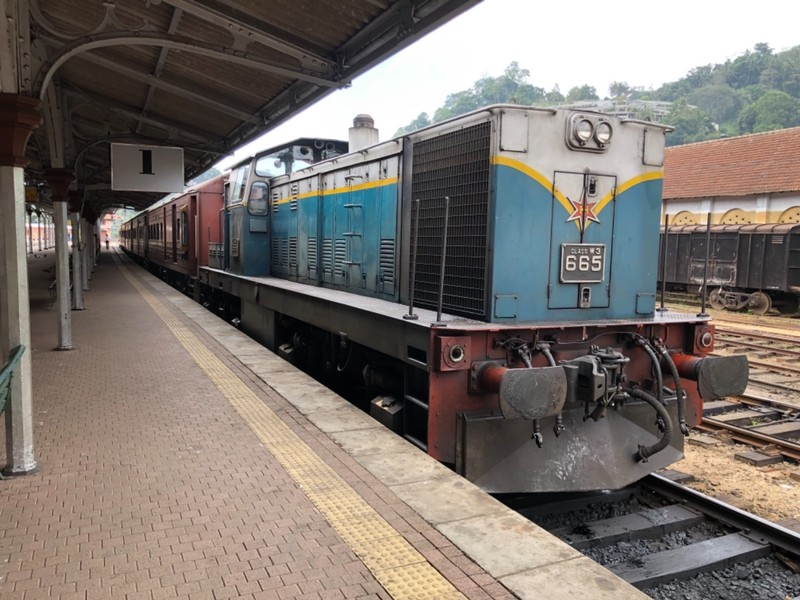 Matale Line train at Kandy station