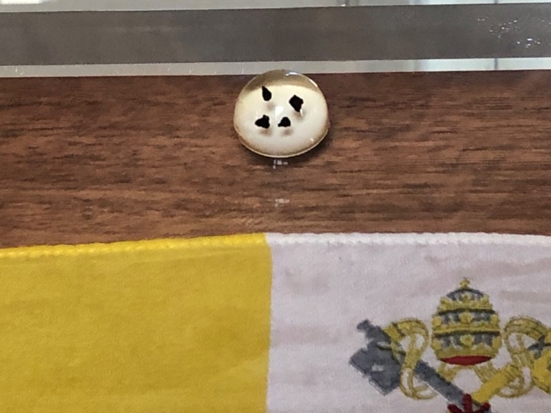 Moon rock samples at the Vatican Museums