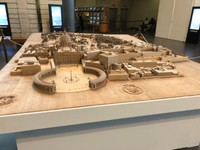 Scale model of the entire country of Vatican City at the Vatican Museums