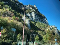 Mount Titano from the highway leaving San Marino