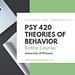 PSY 420 Entire course - University of phoenix