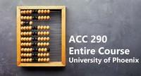 ACC 290 Entire Course – University of Phoenix