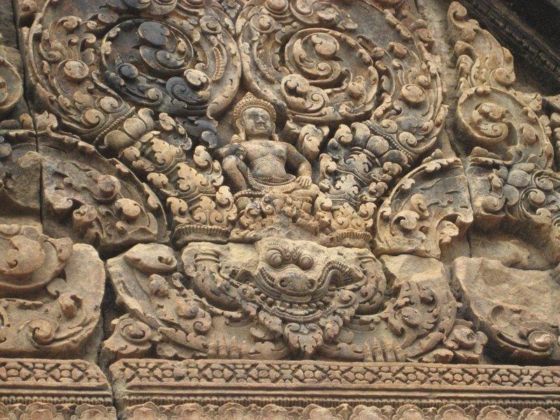 Banteay Srei Carving Detail