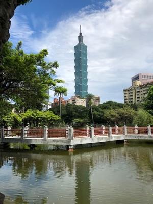 Taipei 101 from Dr Sun-Yat Sen Memorial