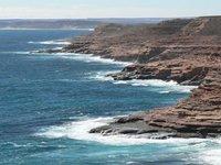 Kalbarri - Cliffs north of Eagle Gorge