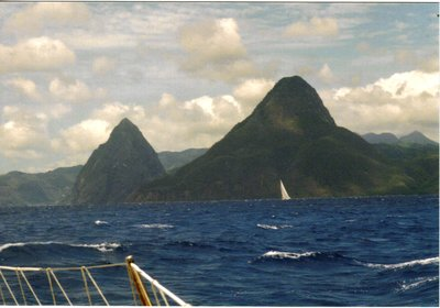 Sainte Lucia, The Pitons from the sea