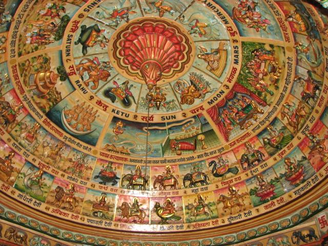 Jain Temple ceiling artwork