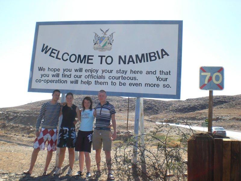 De grensovergang naar Namibia