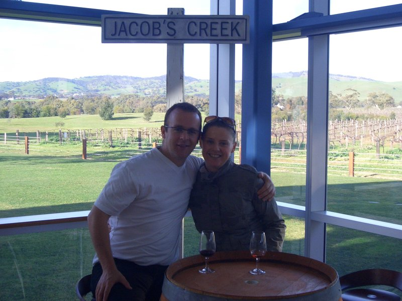 mo and me at jacobs creek vineyard