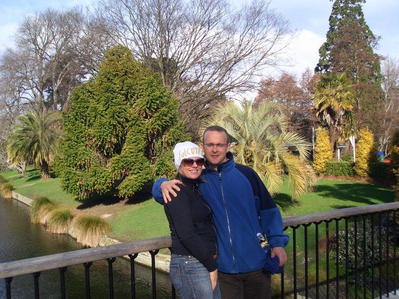 mo and me christchurch - avon river