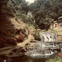 Vue sur la grande cascade