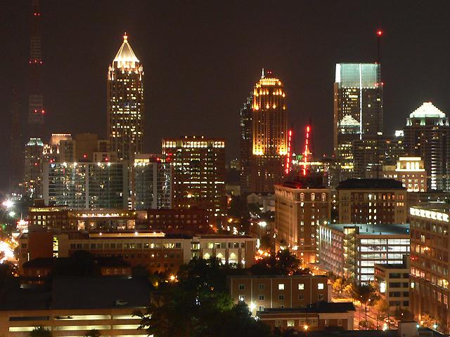 Atlanta Downtown bei Nacht
