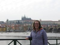 Me with Prague Castle in the background