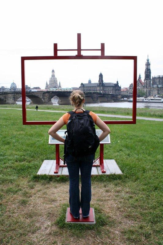 admiring the Dresden skyline