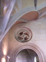 Cloister Arch, decorative circle and ceiling