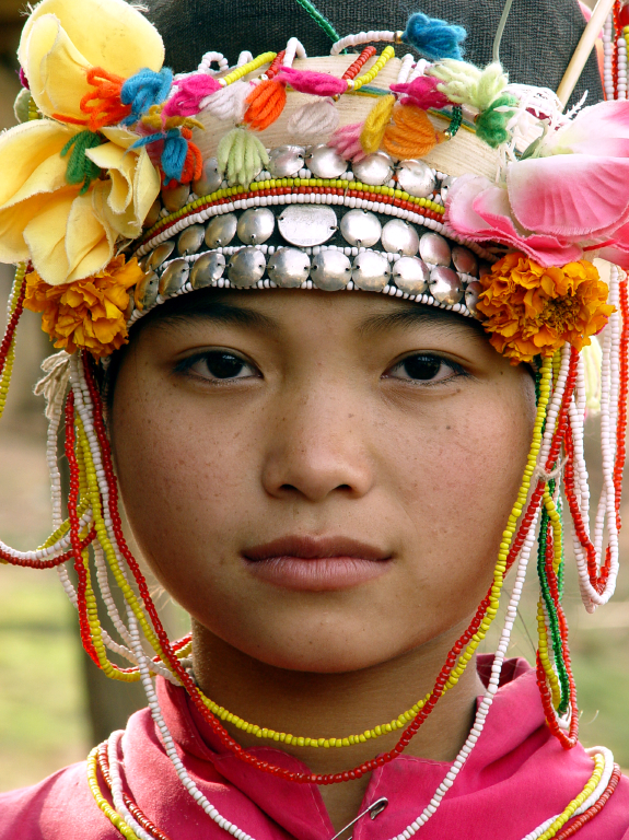 Young Akha woman