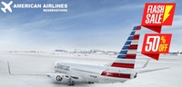 50% OFF on American Airlines REservations