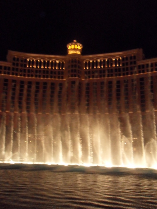 The Bellagio Fountains (at night!)