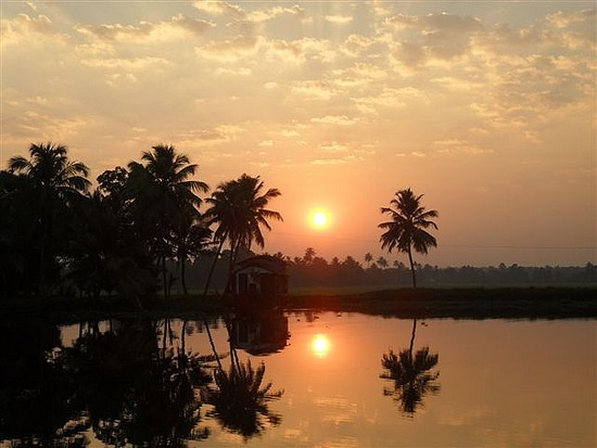 Sunset Alleppey, Kerala