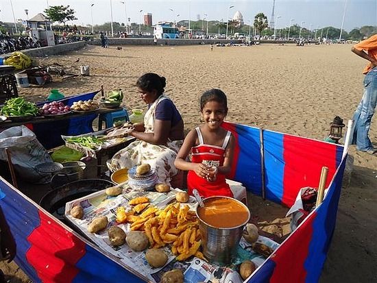 Food Seller Marina Beach