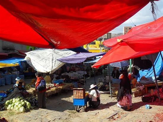 La Paz Market Scene