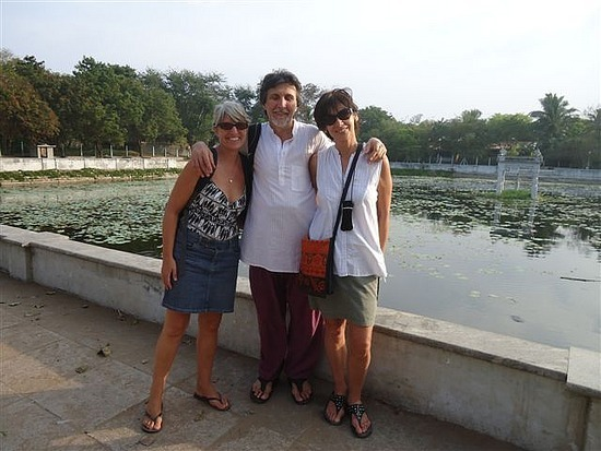 With Mo and Ernesto by the tank temple