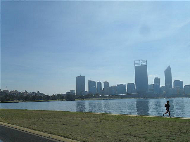 Cycling Along the Swan River