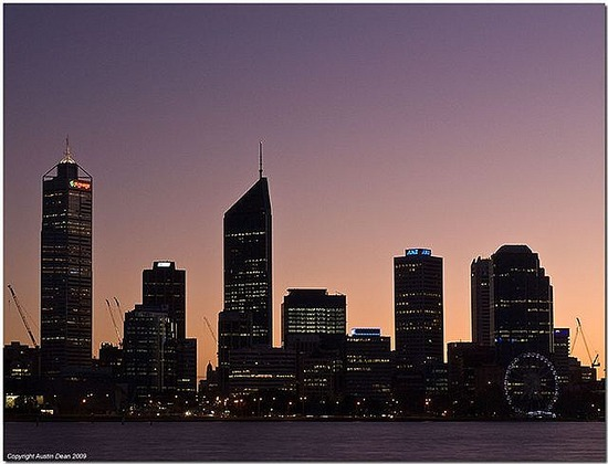 Perth as I see it when I take Mark to work!