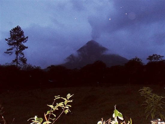 Arenal Volcano by night