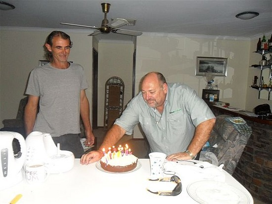 The Birthday Boy (with Simon our housemate)