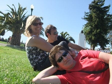 Me, Kaz and Dan - Lounging in Dolores Park