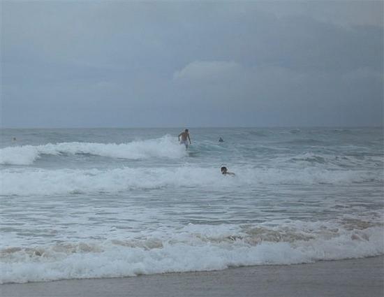 Surfers, Christmas Morning Ballina