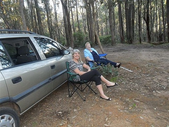 With Mark's mum in Dwellingup