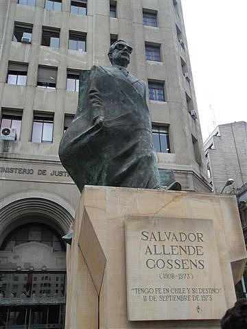 Allende Statue