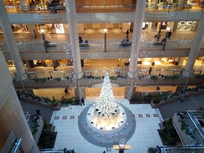Christmas at the mall part of Landmark Tower