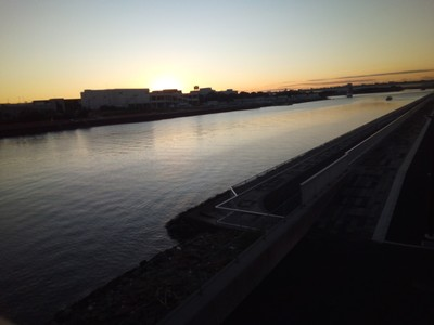 Bridge across the river near Ota Market