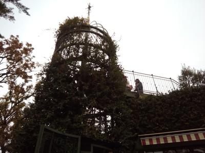 Stairway up to roof of Studio Ghibli building