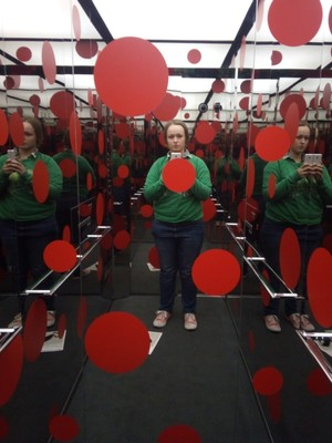 Yayoi Kusama's lift (she was a big fan of polka dots)