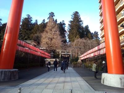 Looking back into Osaki Hachimangu