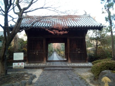 The first Rinno-ji gate. A wee way back from the road